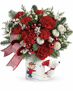 PEANUTS® Christmas Mug Arrangement