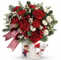 Peanuts Christmas Mug Bouquet by Teleflora Hoilday