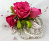 Pearl Rose Corsages