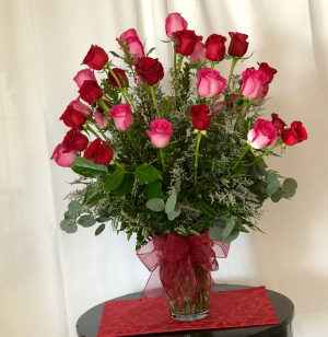 A Texas 24  Romance Vase arrangement in Decatur, TX | A RAY OF FLOWERS