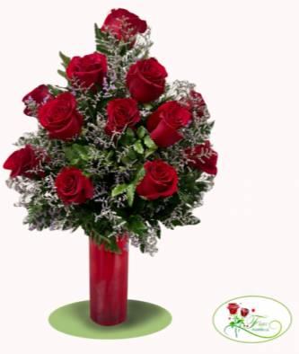 pedestal de rosas