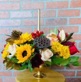 Pedestal Table Centerpiece Thanksgiving