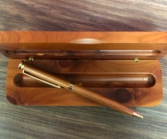 Pen and wood pen case Personalized engravable gift