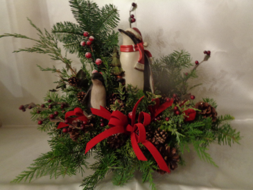 Penguin Holiday Arrangement