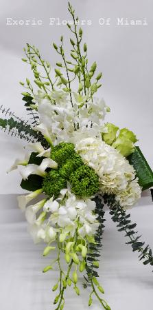 Pentecost vase Arrangement in Miami, FL   EXOTIC FLOWERS OF MIAMI