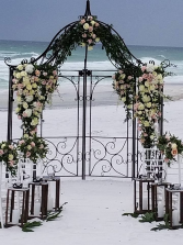 Sand and Petals Beach Wedding Arbor
