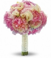 Peonies and Calla Lilies Wedding Bouquet