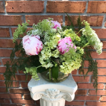 Peonies and Lace Vase