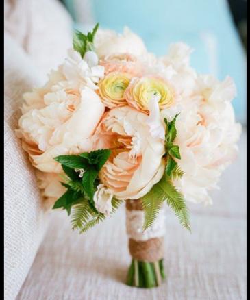 Peonies and ranunculus Wedding bouquet