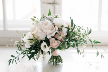 Peonies and Ranunkulus Bridal Bouquet