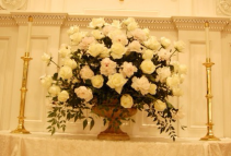 Peonies and White Roses Ceremony Flowrs