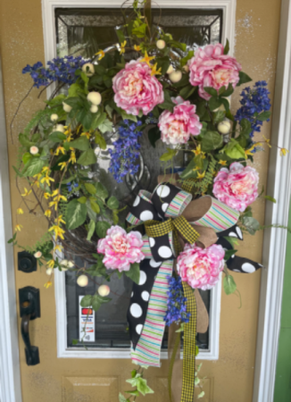 Peonies sensation  Silk wreath
