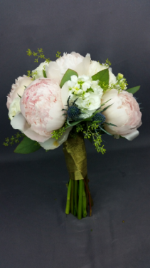 Peony and Stock Bouquet Bridal or Brides Maid Bouquet