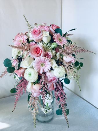 Peony & Astilbe  Bridal Bouquet