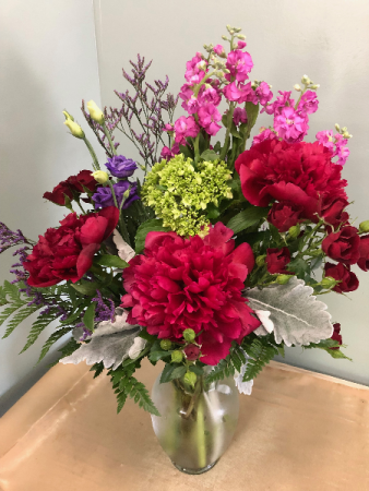 Peony Designed Vase Arrangement
