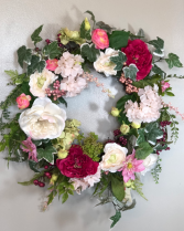 Peony permanent wreath gift item