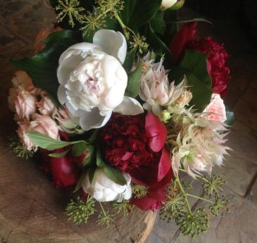Peony & Rose Handtied Bouquet