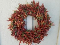 Pepper Wreath 21 in wreath