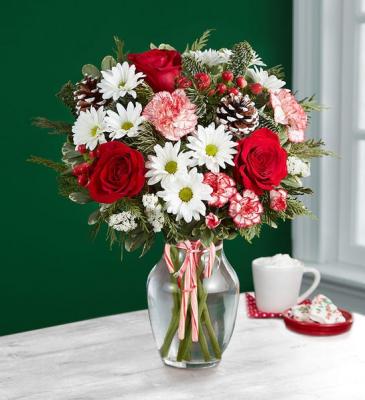 Peppermint Joy Bouquet Floral Arrangement