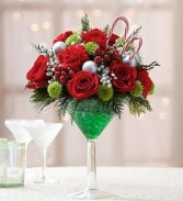 Peppermint Martini Bouquet Holiday Cocktail