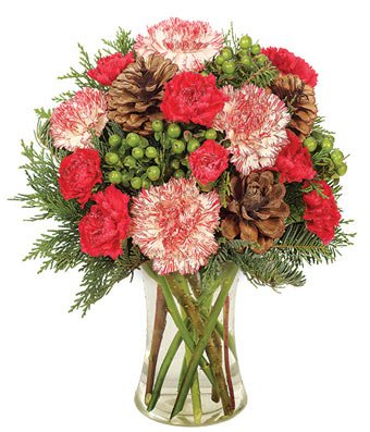 Peppermint & Pine Bouquet Arrangement