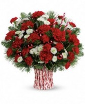 Peppermint Sticks Bouquet Christmas Flowers