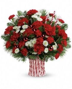 Peppermint Sticks Bouquet Christmas Flowers