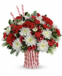 Peppermint Sticks Christmas Arrangment