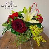 Peppermint Twist Vase Arrangement