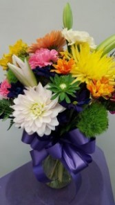 Perfect Bright Flowers for today Vase Arrangement