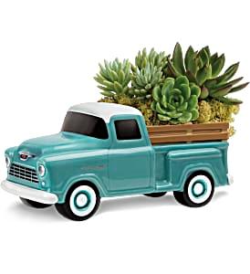 Perfect Chevy Pickup     T18F110 Keepsake Arrangement