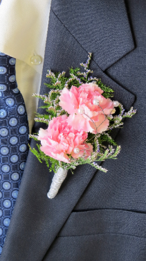 Perfect In Pink Boutonniere