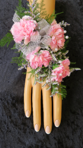 Perfect In Pink Wrist Corsage