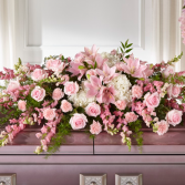 Soft and Sweet Pinks Casket Spray