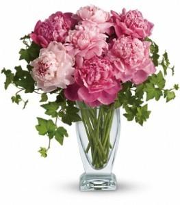 Perfect Peonies Vase Arrangement