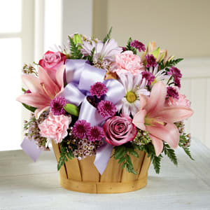 Thinking Of You- Basket Arrangement  in Derby, CT   THE PETAL PUSHER FLORIST