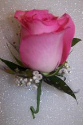 Perfect Pink Boutonniere