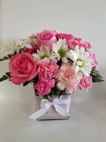 Perfect pink  Cube vase