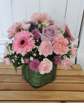 Perfect Pinks Cube Arrangement in Halifax, Nova Scotia | BLOSSOM SHOP HALIFAX