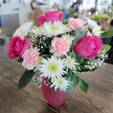 Perfect Pinks Vased Arrangement