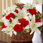 Perfect Sight Red and White      FHF-26 Basket Arrangement