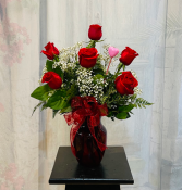 Perfect Six Bouquet Roses Arranged
