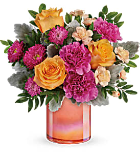 Perfect Spring Peach Bouquet Every Day in International Falls, MN | Gearhart's Floral And Gifts