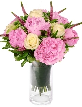 PERFECT ROSES &PEONIES BOUQUET in Germantown, MD | GENE'S FLORIST & GIFT BASKETS