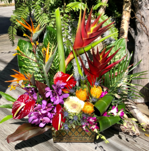 Perfect Tropical Arrangement Large Custom Arrangement of Tropical Flowers in Key West, FL | Petals & Vines