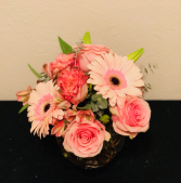 Perfection in Pink Bubble Bowl Arrangement