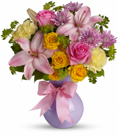 Perfectly Pastel All-Around Floral Arrangement