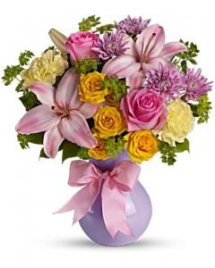 Perfectly Pastel Bouquet in Jasper, TX | BOBBIE'S BOKAY FLORIST
