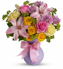 Perfectly Pastel        TEV13-5 Vase Arrangement