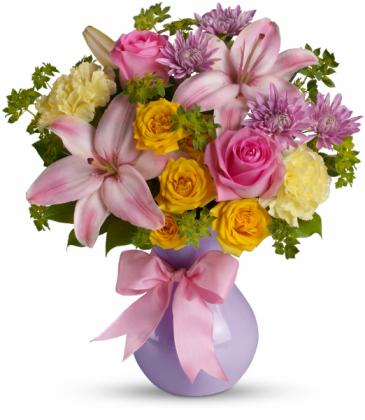 Perfectly Pastel Vase arrangement